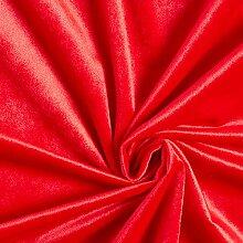 Tissu de décoration Velours – rouge vif —