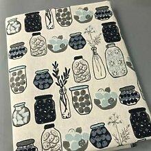 Tissu en coton et en lin d'impression Vintage,