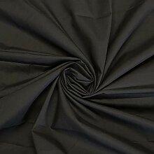 Tissu en polycoton noir au mètre 112 cm de large