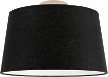 Tissu Plafonnier Moderne blanc avec abat-jour noir