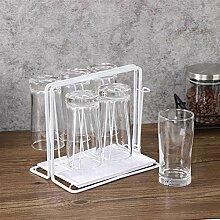 Titulaire de la tasse en métal Drain de la tasse