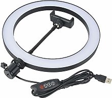 Tnfeeon LED Ring Fill Light, 10 Pouces Universal