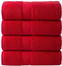 Todd Linens Ensemble de 4 serviettes de bain en