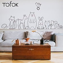 Tofok – autocollant mural Animal de dessin