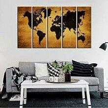 Toile d'art mural Vintage avec carte du monde,