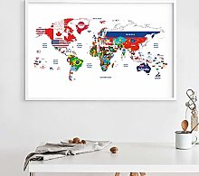 Toile de peinture Carte du monde affiche jointe