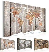Toile de peinture classique carte du monde, fond