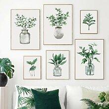 Toile décorative avec plante verte de Style