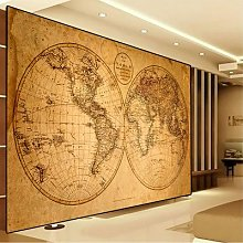 Toile Vintage de la vieille carte du monde,