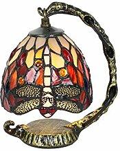 Tokira Lampe de Bureau Tiffany de Style Rouge