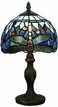 Tokira Lampe de Table Tiffany Libellule Bleu de
