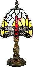 Tokira Lampe de Table Tiffany Libellule, Mini