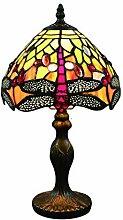 Tokira Lampe de Table Tiffany Libellule Orange
