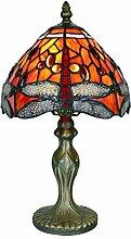 Tokira Lampe de Table Tiffany Libellule Rouge 8