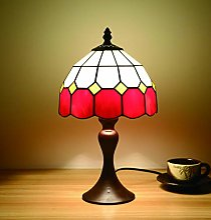 Tokira Lampe de Table Tiffany Rouge
