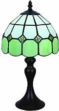 Tokira Lampe de Table Tiffany Vert Méditerranéen