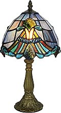 Tokira Tiffany Lampe de Table Bleu, 8 Pouces