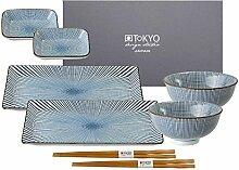 Tokyo Design Studio, 2 Sushi Assiette+4 bol+ 2
