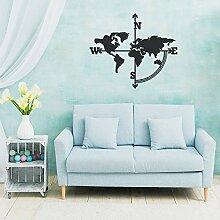 Tolary Carte du monde en métal, décoration