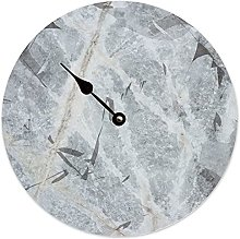 Toll2452 Horloge de marée ronde en bois gris