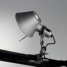 TOLOMEO-Lampe à pince H23cm Alu anodisé Artemide