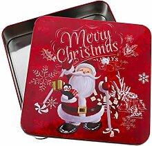 Tomaibaby Boîtes en Métal de Noël Boîte de
