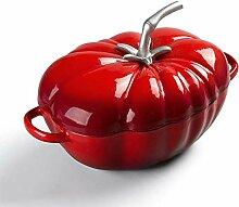 Tomate Forme Fonte Casserole, Enameled Faitout