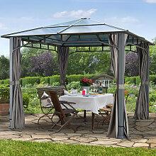 Tonnelle de jardin 3x3 m Sunset Deluxe, toit