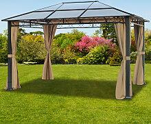 Tonnelle de jardin 3x4 m Paradise Deluxe, taupe