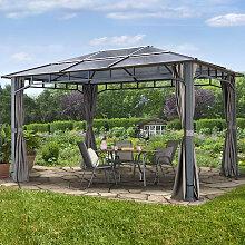 Tonnelle de jardin 3x4 m Sunset Deluxe, toit