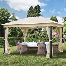 Tonnelle de jardin 3x4 m Sunset Premium, champagne
