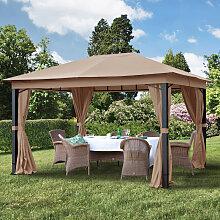 Tonnelle de jardin 3x4 m Sunset Premium, taupe