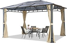 Tonnelle de jardin 3x4m structure Aluminium toit