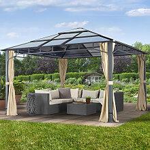 Tonnelle de jardin Sunset Deluxe, champagne, 4x4m