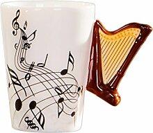 TOOGOO Nouveaute Harpe poignee en ceramique Tasse