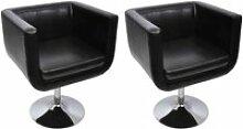 TOP•4913 Chaise de bar 2 pcs fauteuil pivotant