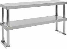 Topdeal étagère de table de travail 2 niveaux