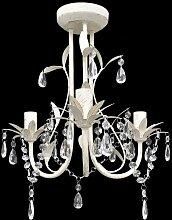 Topdeal VDTD08347_FR Lustre en cristal blanc