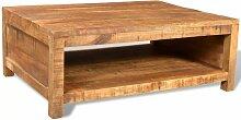Topdeal VDTD08558_FR Table basse Bois massif de