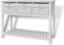 Topdeal VDTD09289_FR Buffet de rangement Blanc