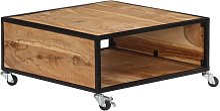 Topdeal VDTD13538_FR Table basse 70x70x32 cm Bois
