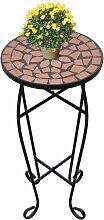 Topdeal VDTD26364_FR Table d'appoint Mosaïque