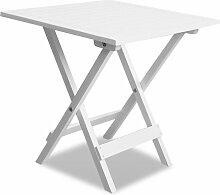 Topdeal VDTD26492_FR Table de bistro Blanc