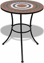 Topdeal VDTD26560_FR Table de bistro Terre cuite