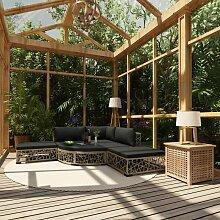 Topdeal VDTD30149_FR Mobilier de jardin 6 pcs avec