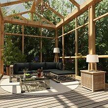 Topdeal VDTD30150_FR Mobilier de jardin 5 pcs avec