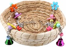 TOPINCN Parrot Swing Nest Safe Paille Durable