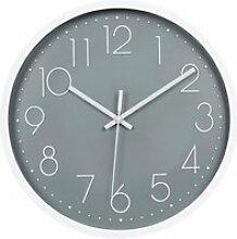 Topkey Horloge Murale 12 -Silencieuse Sans