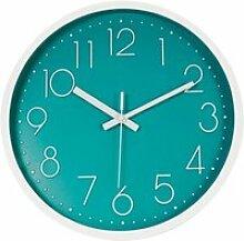 Topkey Horloge Murale 12 -Silencieuse Sans Coutil