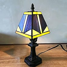 TOPNIU Lampe de Table Tiffany de Style Tiffany de
